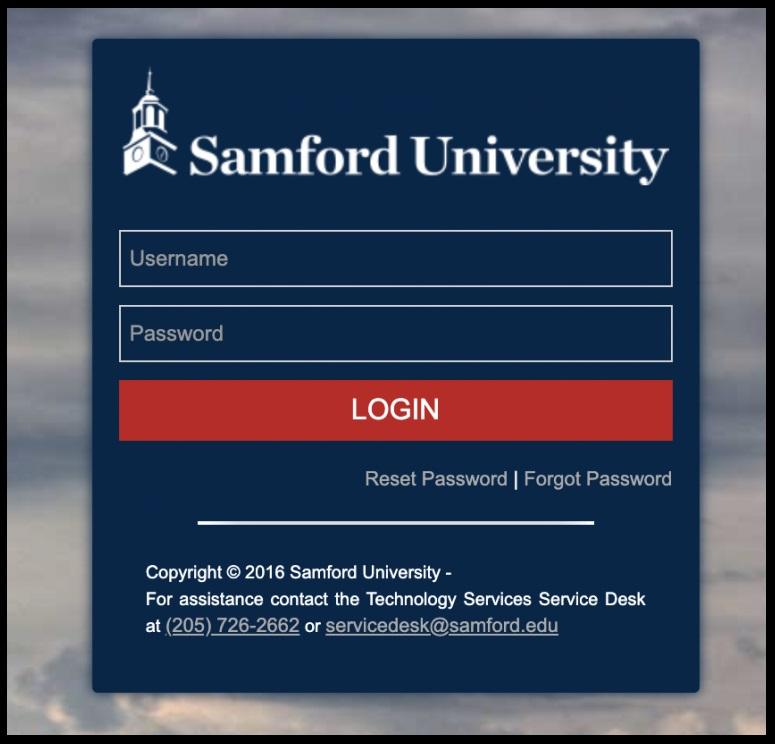 Samford Portal Login Universtry Edu
